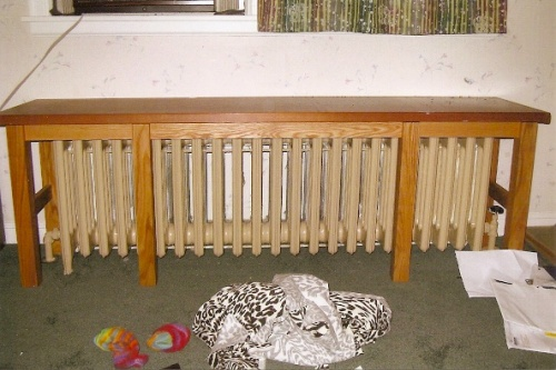radiator bench old house