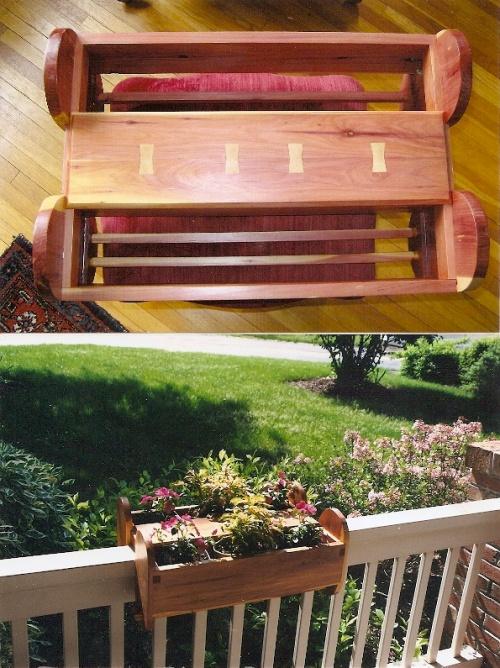 red cedar windowboxes